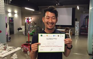 オルトレマテリアの日本認定施工店 認定の様子