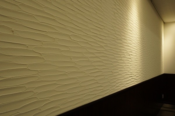珪藻土の剣先仕上げの壁の会議室画像2