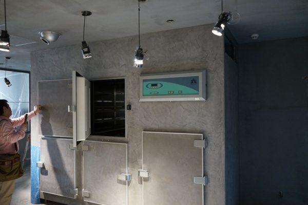 モールテックス施工の冷蔵庫