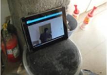 写真:ipad内のお手本動画