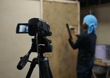 写真:ビデオ撮影