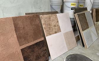 写真:土壁の新しい意匠開発