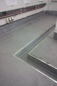 タフクリートの厨房の床