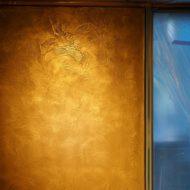 金属の左官材 ミダスメタルで扉を作成