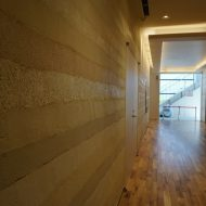 塗り版築仕上げ 都内の商業施設での施工例