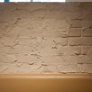 タイル・プラスター 左官とタイルのコラボレーション壁での施工