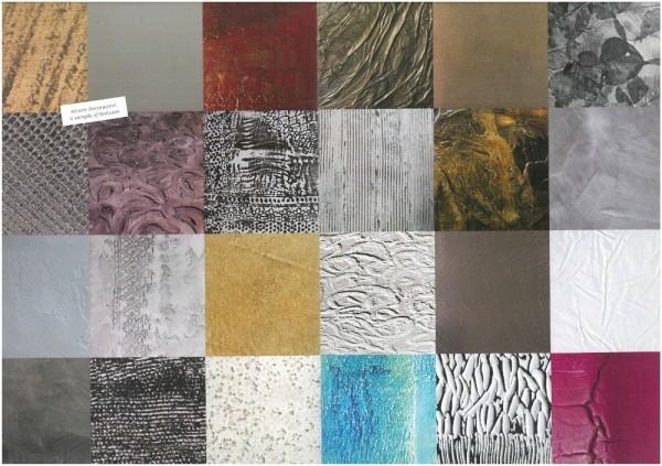 オルトレマテリア OLTREMATERIA 20種ほどのテクスチャーサンプル画像