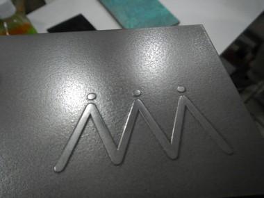 ミダスメタル Midas Metall ミダスメタルサンプル凸凹Mロゴマーク