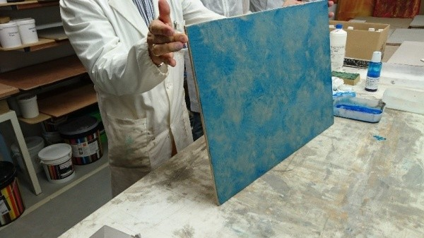 オルトレマテリア OLTREMATERIA 研修画像サンプル色付け青 サンプル作成