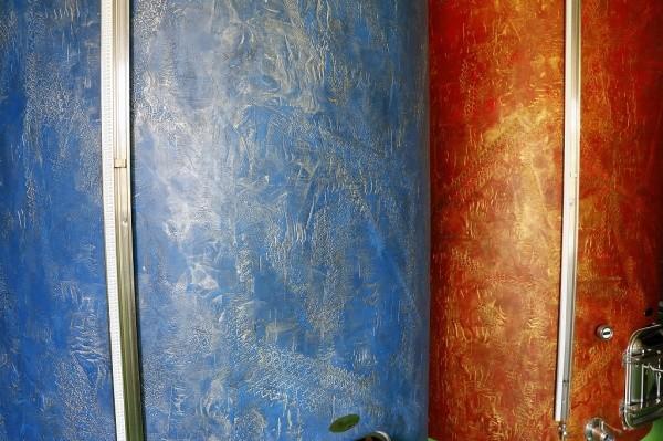 オルトレマテリア OLTREMATERIA 施工例青色と銀色の組み合わせ 赤色と金色の組み合わせ
