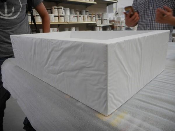 オルトレマテリア OLTREMATERIA 施工例しわ加工を施した容器 布のような自然な皺
