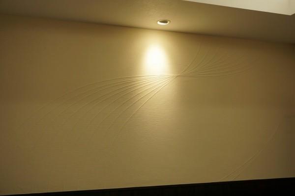 素材を貼り上から塗ることで曲線が描かれた壁画像全体図