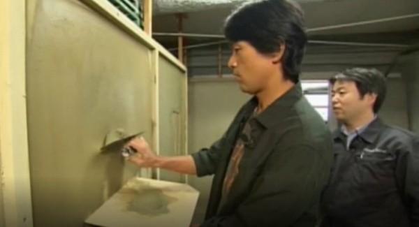 ガイアの夜明けより江口洋介さん塗り壁体験