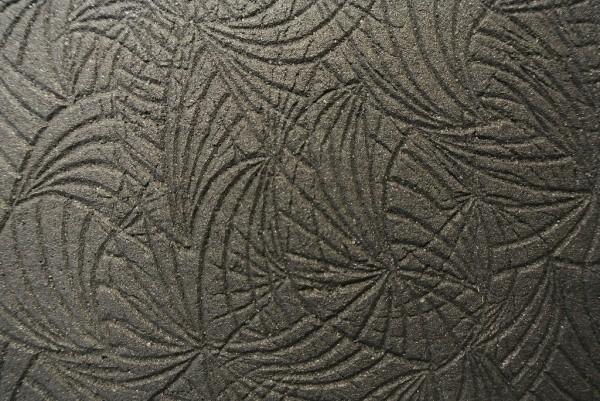 壁サンプル、植物の葉脈をイメージしていあるリーフライン、ローラー仕上げ
