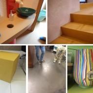 オルトレマテリアを使用した天板、什器、階段、床の画像