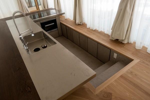 モールテックスキッチン全体図、上からの視点