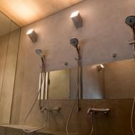 モールテックス壁のシャワールーム
