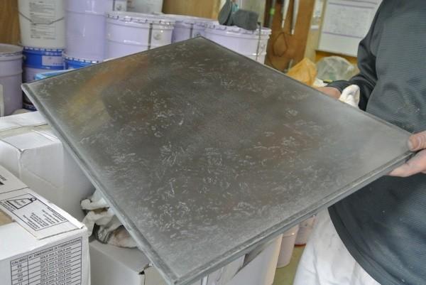 ミダスメタル亜鉛の見本板完成