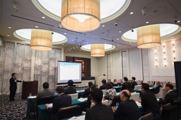 経営計画発表会会場の様子