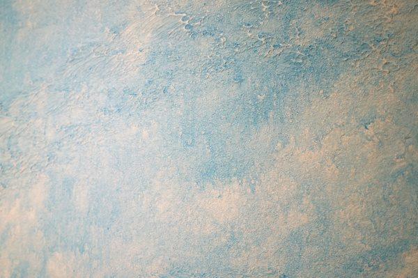 白と青のオルトレマテリア仕上げ。夏のイメージの見本
