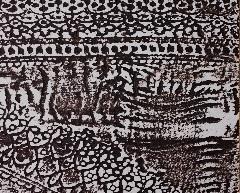 オルトレマテリア、黒のレース柄に白の材料の組み合わせたサンプル