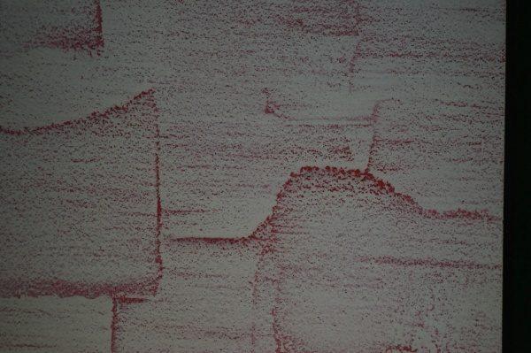 オルトレマテリア、赤のスパニッシュ柄に白を組み合わせたサンプル