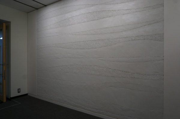 変化をつけた塗り版築現場施工完了