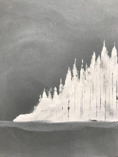白とグレーを使い、冬をテーマにした塗り板見本