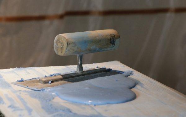 青い版築素材