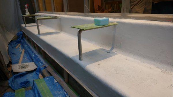 BEALSTONE ベンチへの施工