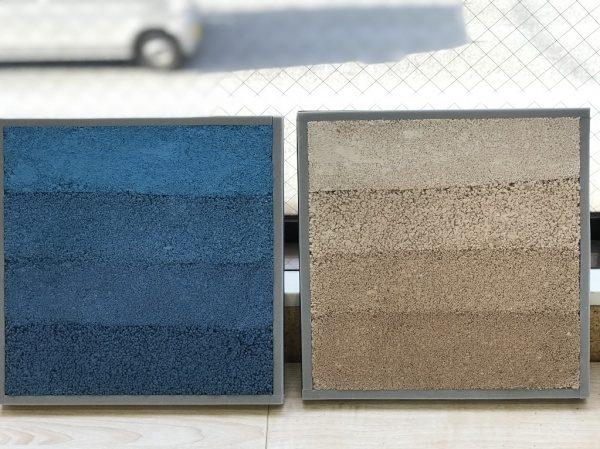 塗り版築 空と砂浜のイメージの部分サンプル