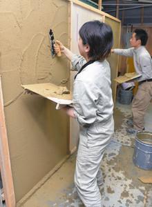 塗り壁トレーニング モデリング訓練の模様
