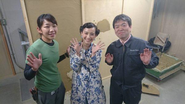 左から当社福吉奈津子、篠原ともえさん、代表原田宗亮