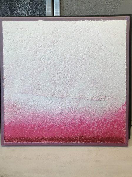漆喰に口紅をグラディーションに入れた見本