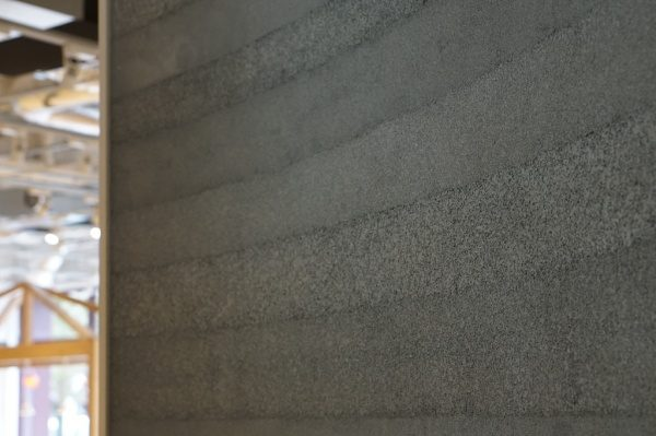 塗り版築 グレー R壁