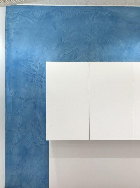 モールテックス ブルー 壁面に施工