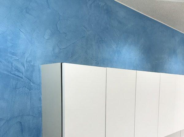 モールテックス ブルー 美容室に施工