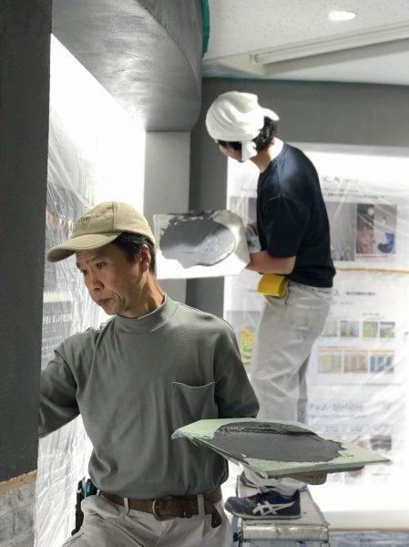 原田左官中島 モルタルアート施工