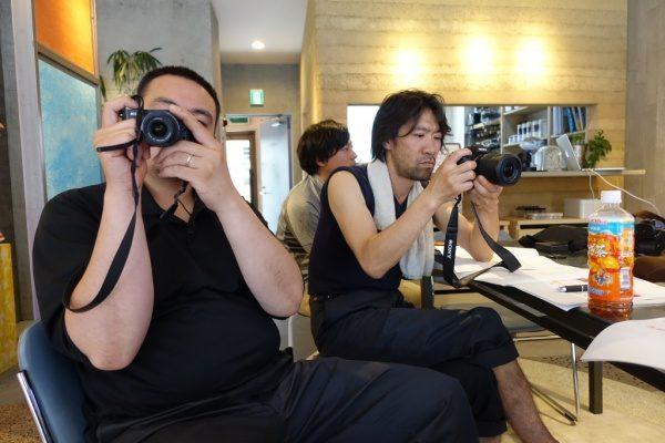 原田左官管理部の岩本さんと堀越さん
