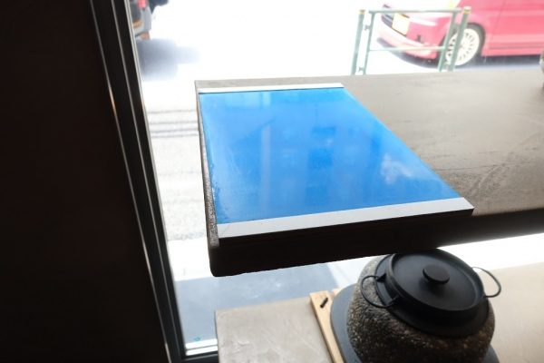 青 磨き壁サンプル