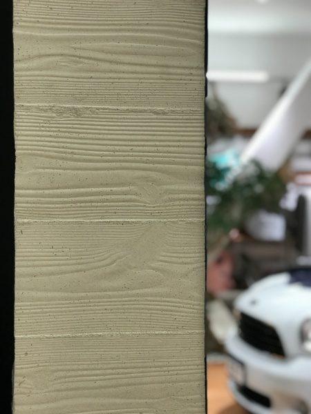 うづくり木目モルタル白 ファザード