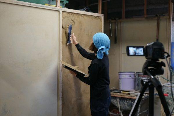 原田左官の塗り壁トレーニング