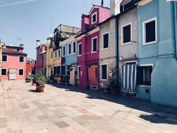 ブラーノ島住宅街の風景