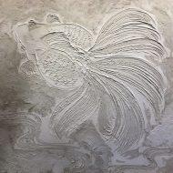 モルタルで絵を描きました