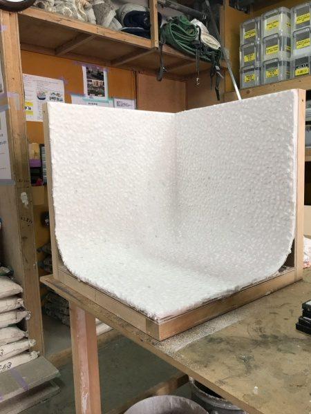台湾洗い出しネット 床・立ち上がりR加工モックアップ品