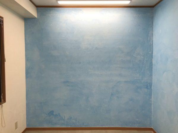 洗い出しネットストーン施工前の壁