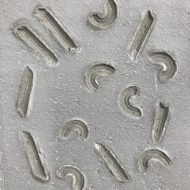 モルタルのマカロニスタンプ模様サンプル見本