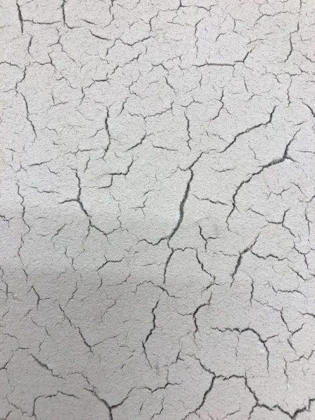白っぽい色の土壁ヒビ割れ仕上げサンプル見本