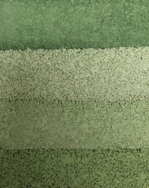 緑系塗り版築のサンプル見本、若干暗め