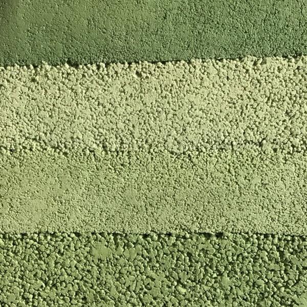 緑系塗り版築のサンプル見本